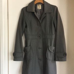 Tulle Gray Long Coat Size Medium